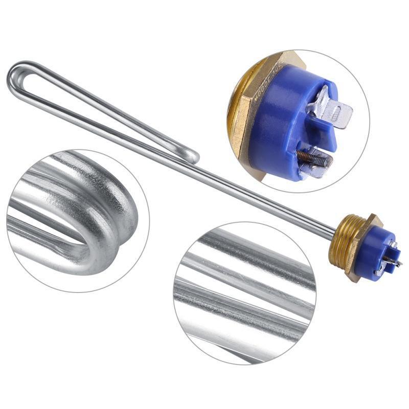 Calentador de inmersi/ón Tubo el/éctrico del elemento del calor de la calefacci/ón del tubo del calentador de agua de la inmersi/ón del acero inoxidable 220V 2KW
