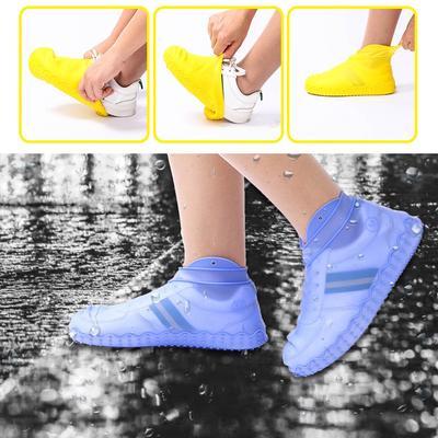 Unisex Shoes Covers Rain Boots Cover PVC Reusable Non-slip Cover Waterproof