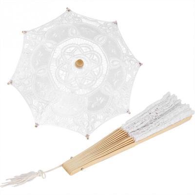 Bridal Lace Cotton Umbrella for Wedding Parties Dancing Pography Prop Elegant and Stylish Umbrella Rain Women S-Trendy-Homes