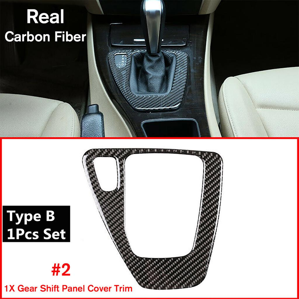 Carbon Fiber Gear Shift Panel Decorative Trim for E90 E92 E93 2005-2012 Right Hand Driver