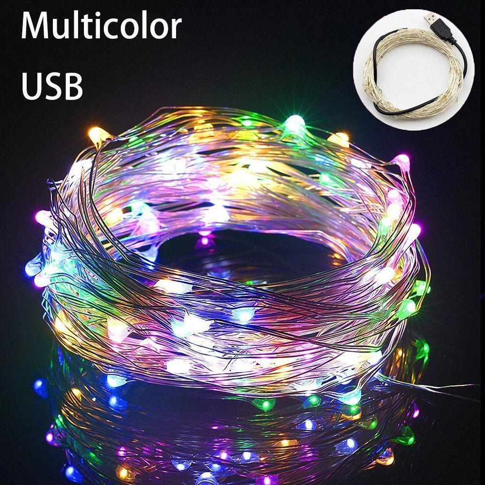 10M// 20M USB LED Copper Wire String Fairy Light Strip Lamp Xmas Party Waterproof