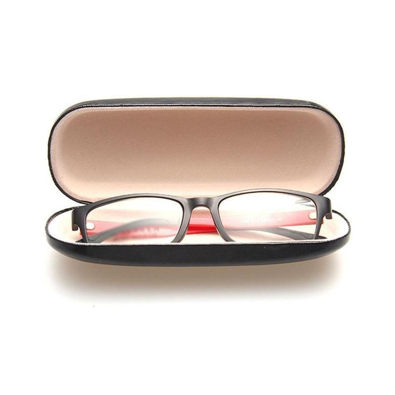 Großhandel 11 Farben Sonnenbrille Fall Brillen Box Gläser Tasche Brillen Carry Box Sunglass Portable Zipper Haken Hart Halter Sonnenbrille Von