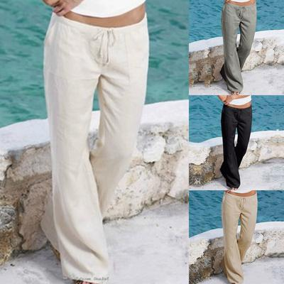 Suncolor8 Mens Elastic Waisted Casual Relaxed Fit Harem Pockets Jogging Cargo Pants