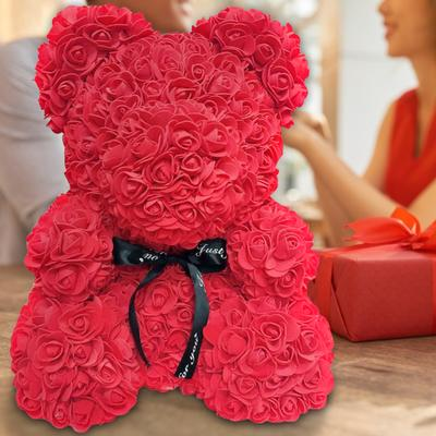 UK 25CM Flower Bear Lovely Teddy Bear Lovers Gift Wedding Rose Bear Toy Fathers