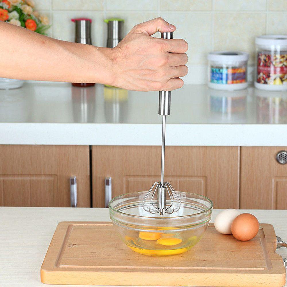 Stainless Easy Whisk Mixer Egg Cream Stirrer Sauce Shaker Cake Blender Beater UK