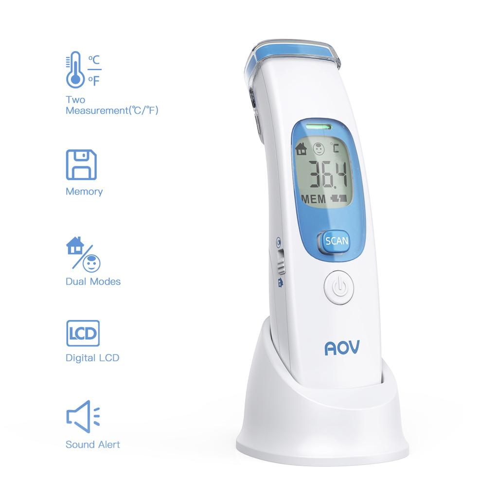 Blue LCD Digital Non-contact Temperature Infrared Thermometers Measurement tool for School Office/&Family Use
