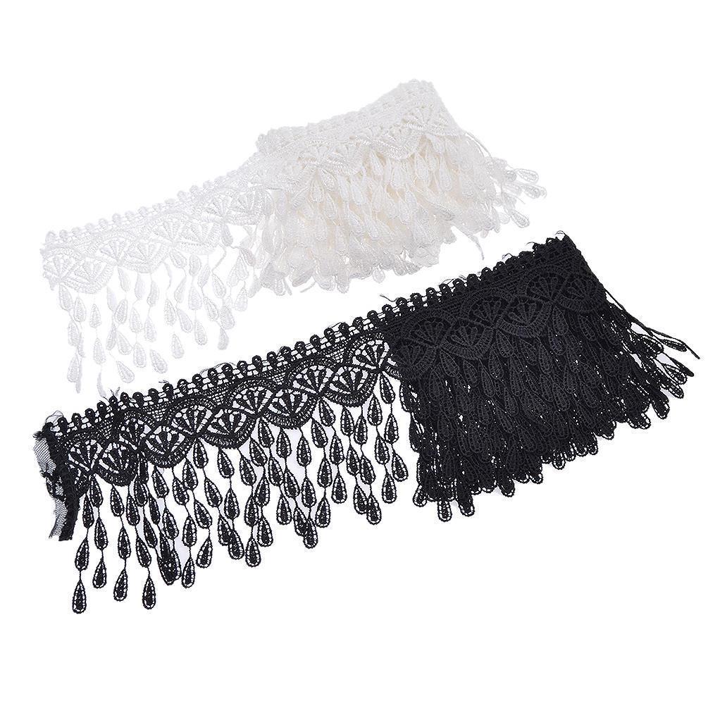 Beautiful embroidered lace ribbon unilateral net lace trim DIY decor 10 yard