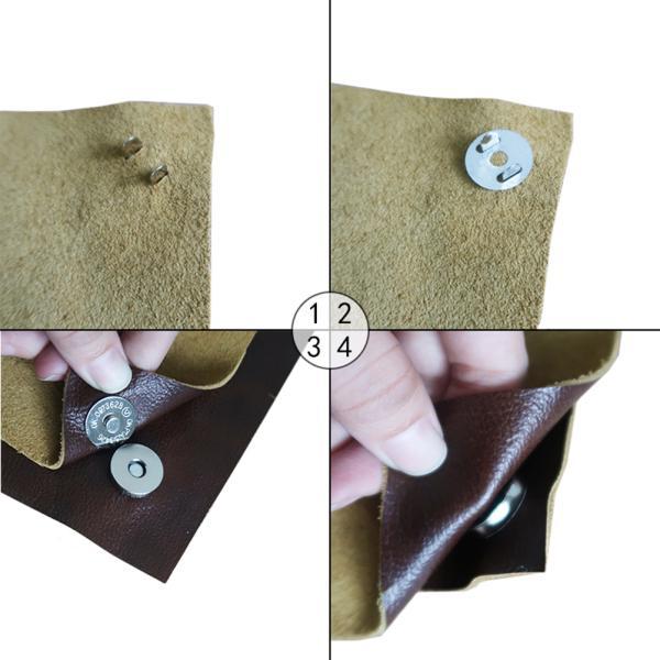 20 magnetische Snaps Geldbeutel Verschluss Verschlüsse Metall