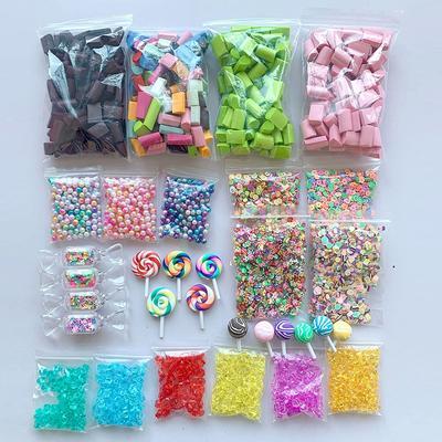 46Pack Slime Foam Beads Stuff Charm Supplies Kit Styrofoam Balls DIY Accessories