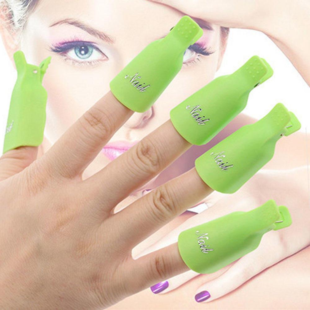 10pcs uñas acrílico plástico arte UV Gel removedor polaco abrigo ...