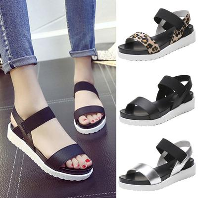 Fashion Sandals Women Leather Flat