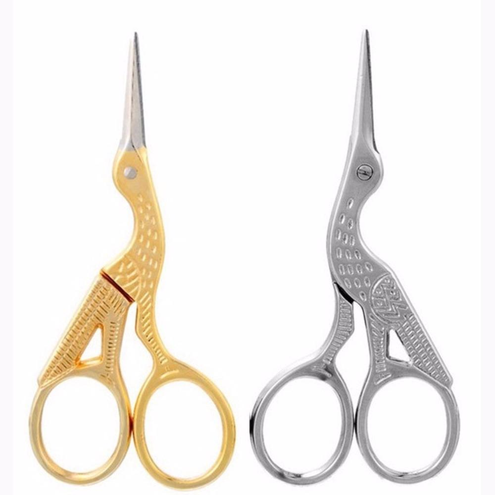 Vintage Diy Crane Shape Gold Tailor Sewing Embroidery Stainless Steel Scissors Unique For Crafts Handmade Diy Accessories Cutting Supplies Office & School Supplies