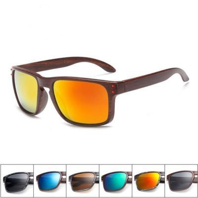 b14b3e0732 Gafas de sol de madera moda hombres reflexivos deportes sol gafas al aire  libre Plaza gafas