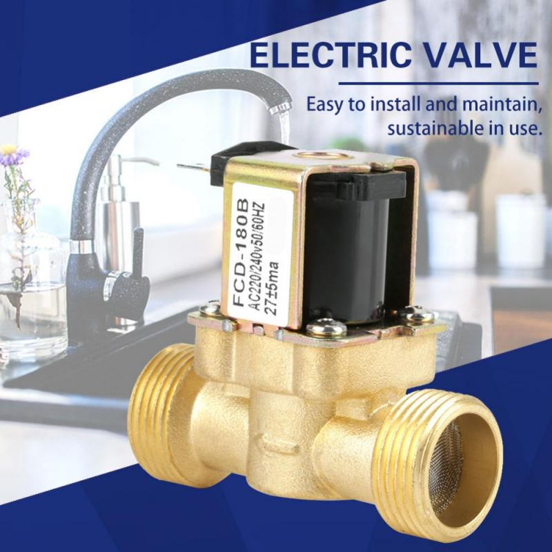 Solenoid Valve AC220V G3//8 Inch Brass Two-Way Normally Closed Solenoid Valve Electric Solenoid Air Water Steam Solenoid Valve
