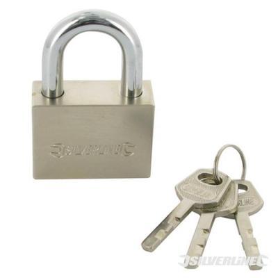 Silverline 307578 Keyed Alike Padlocks 40mm 2pk,