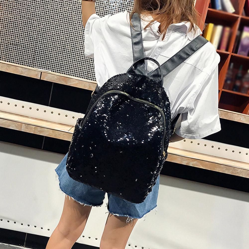 d95d0784d311 1шт блестками школа моды девушка рюкзак сумка студента путешествия ...