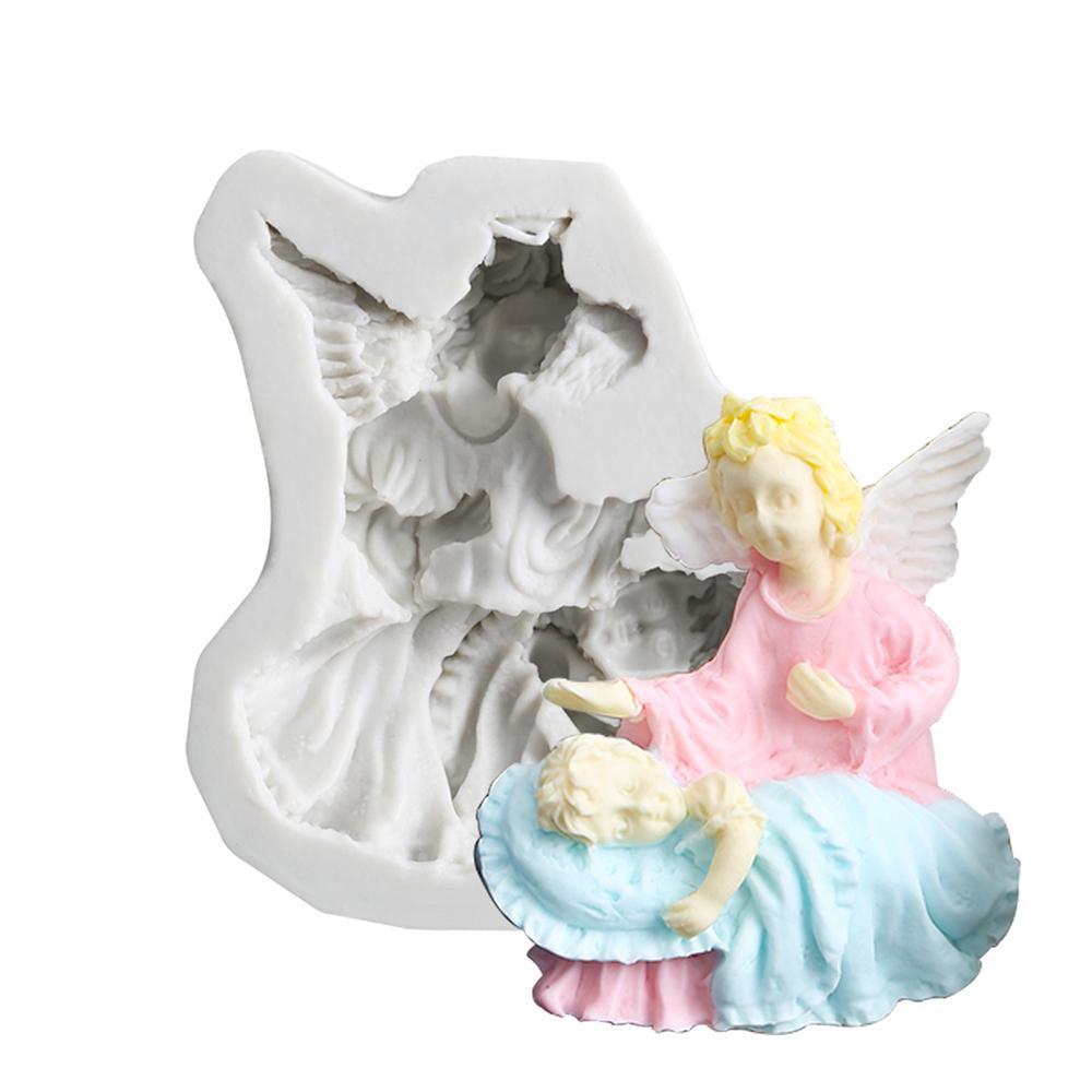 3D Fairy Angel Elf Silicone Fondant Mold Cake Chocolate Icing Sugarcraft Mould