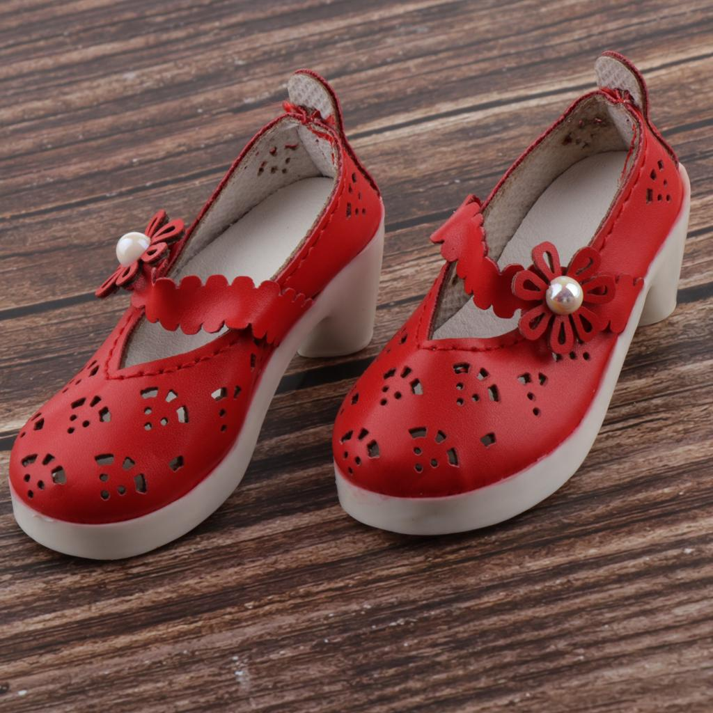 Fashion Princess Doll High Heel Sandal Plastic Party Shoes for 1//4 BJD White