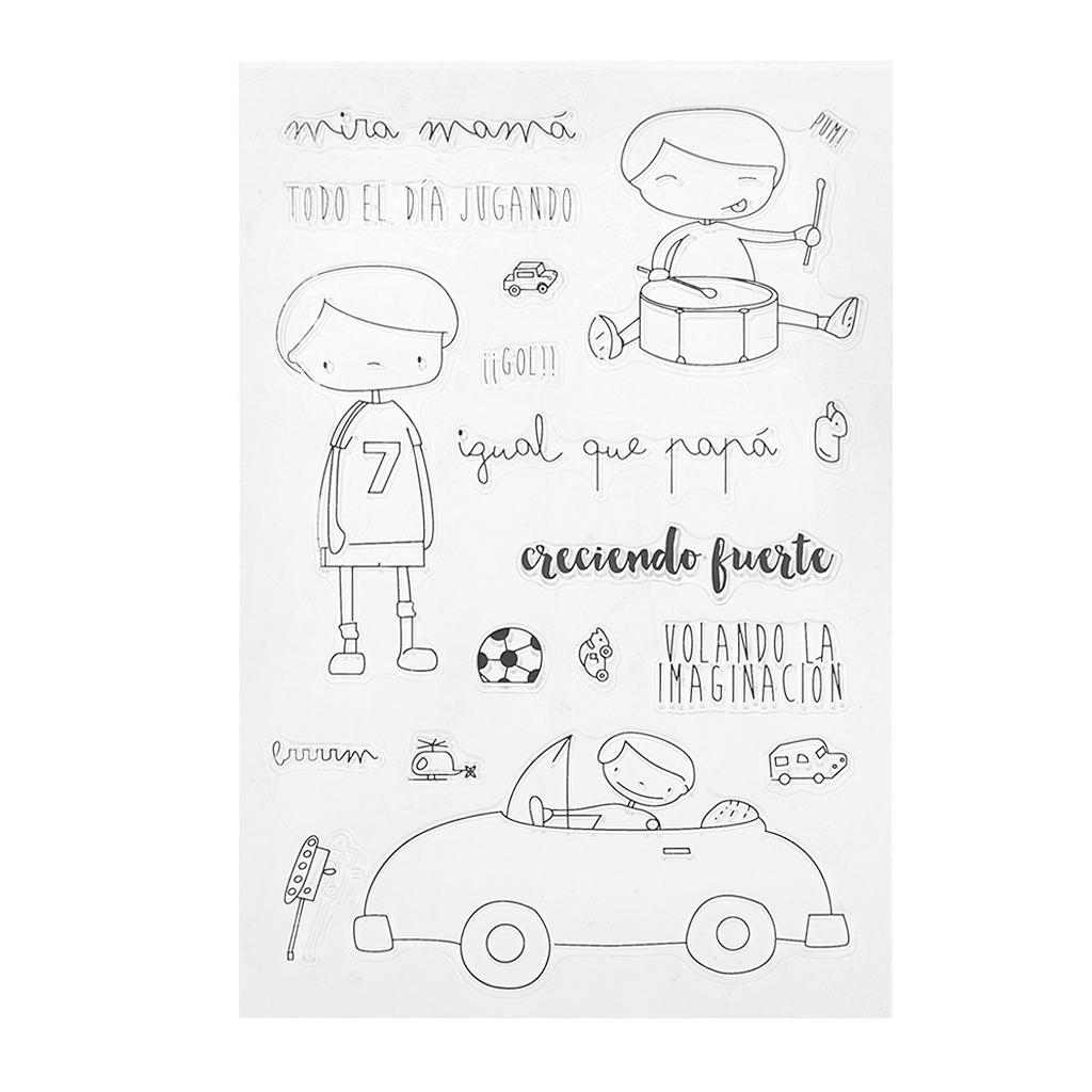 Silicone Clear Rubber Stamps Seal Scrapbooking Album Cards  Diary Craft Q