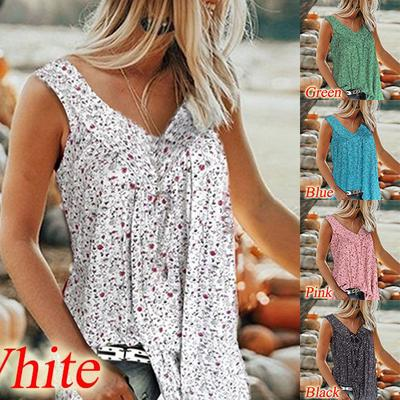 2019 New Plus Size Tank Top U Neck Embroidery Hollow Out Sleeveless Summer Pullover Blouse Tops for Women