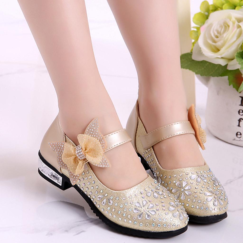 Girls size 2uk Kelsi gem shoes//sandals heel champagne//rose,new dance