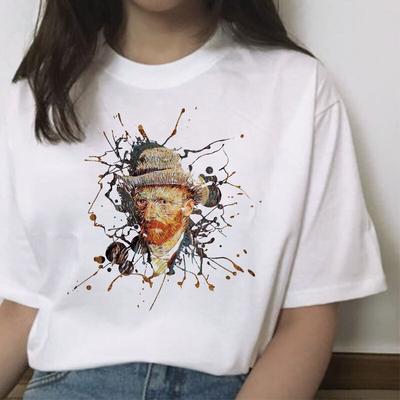 Van Gogh Harajuku Female Aesthetic T Shirt Korean Style