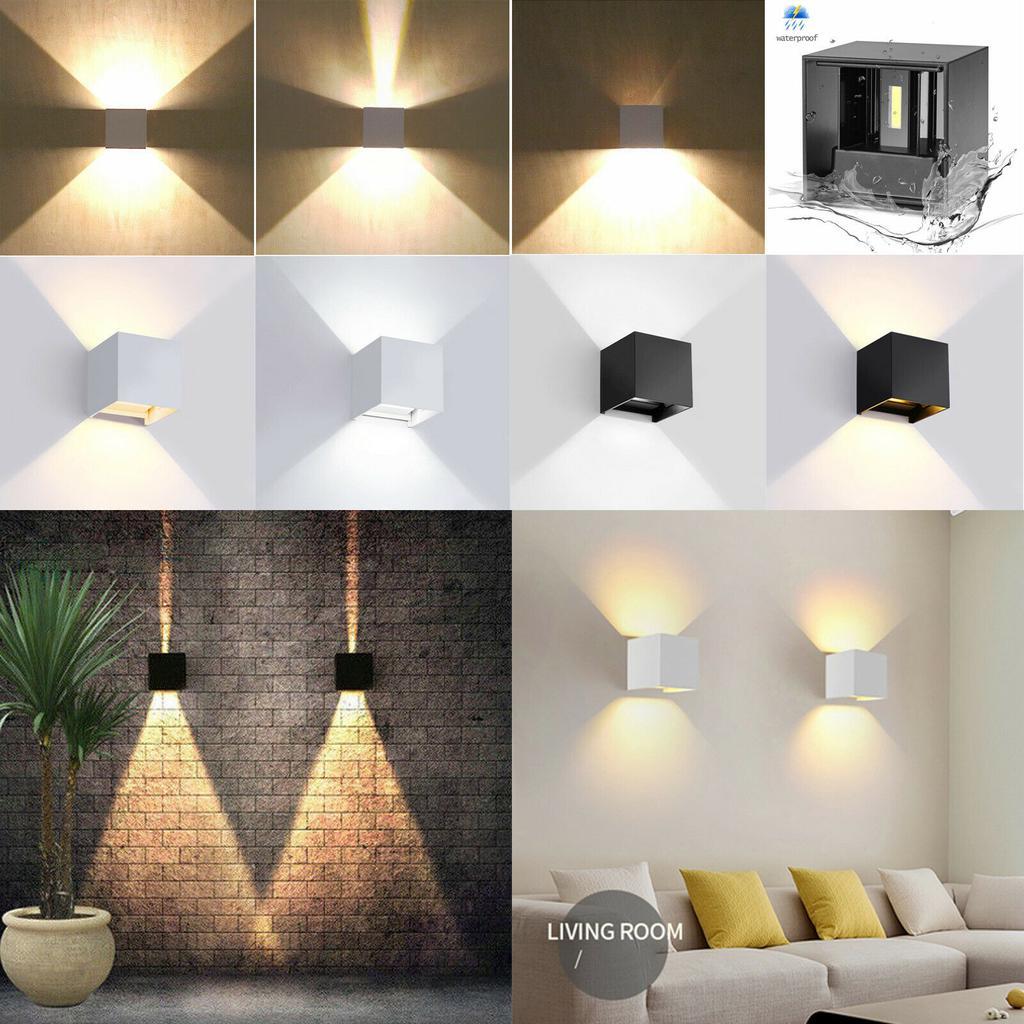 LED Wall Lights Up//Down Indoor Bedside Modern Sconce Lighting Lamp Warm White