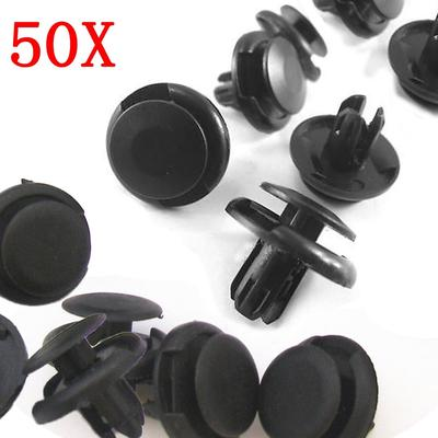 "2x 50pcs A16 1//4/"" 6mm Bumper Nylon Plastic Push Retainers Fasteners Clips"