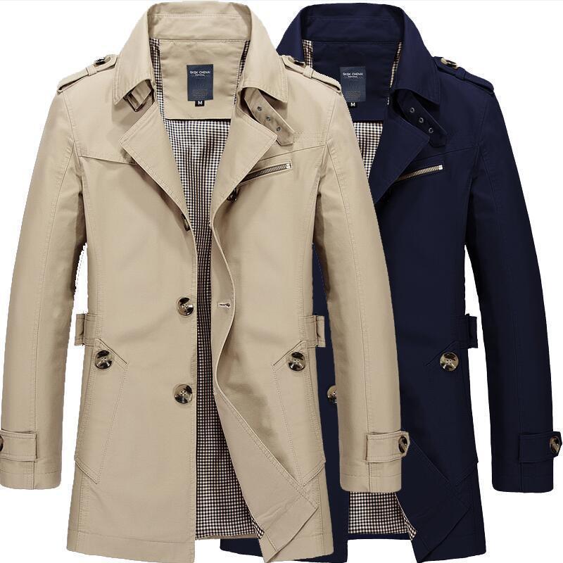 春夏男装跨境男式夹克休闲男士新品薄工作外套纯棉风衣亚马逊