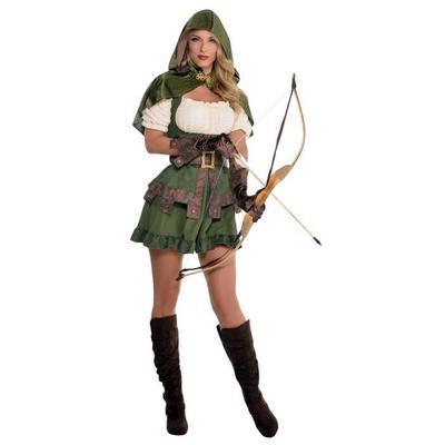 Mens Archer Hunter Robin Hood Medieval Hero Fancy Dress Costume Outfit