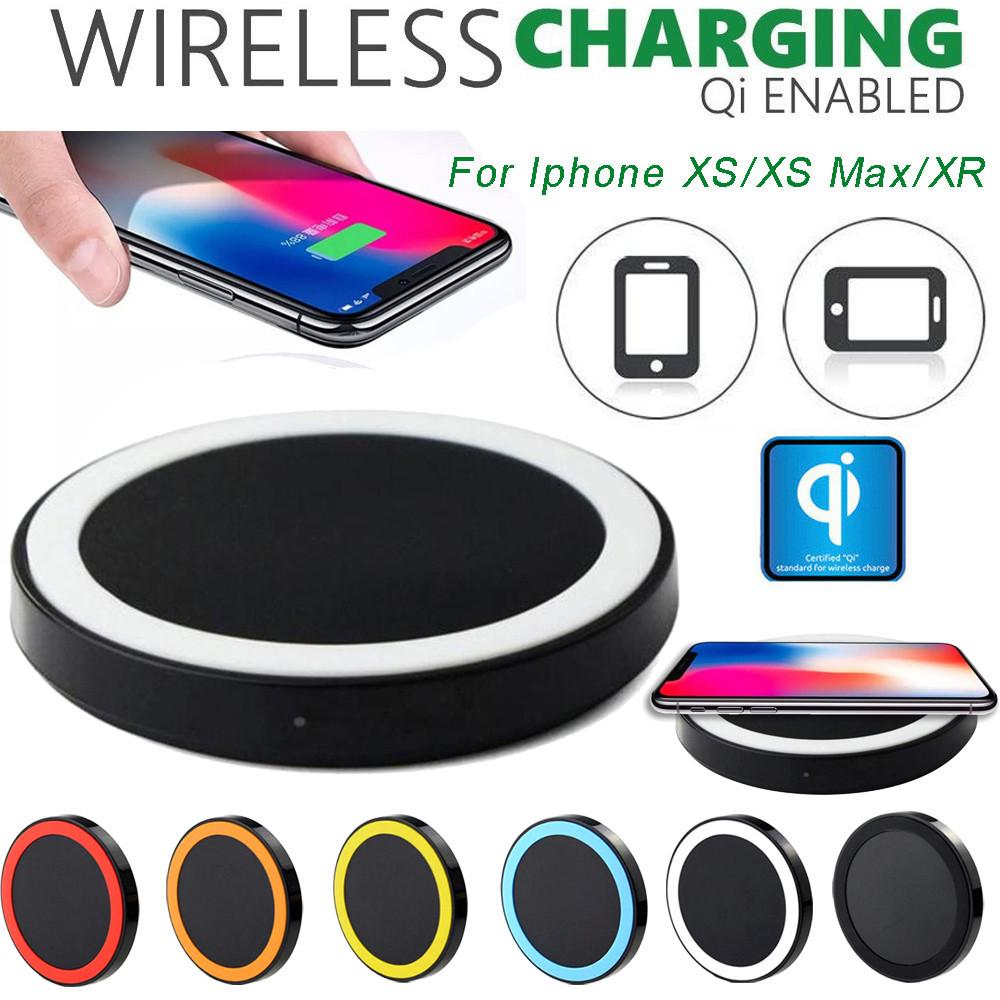 Ultra thin Qi Wireless Charger Power Charging Pad For Iphone XS XS Max XR