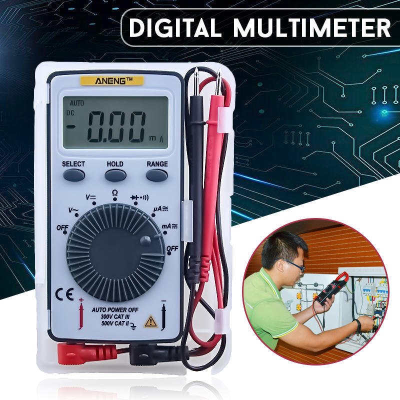 Zoyi ZT-S1 Multim/ètre num/érique intelligent avec r/étro/éclairage LCD NCV et lampe de poche