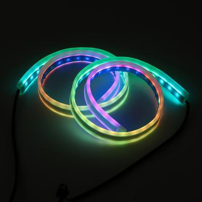 Twin 50cm Green LED interior footwell lights waterproof /& flexible exterior neon