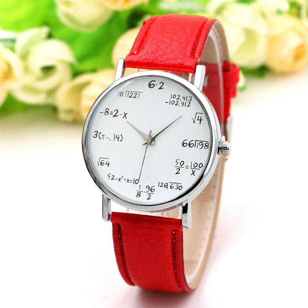 a8d25c77be0 Mathematics Formula Analog Quartz PU Leather Wrist Watch For Lady Gift 9  Color-buy at a low prices on Joom e-commerce platform