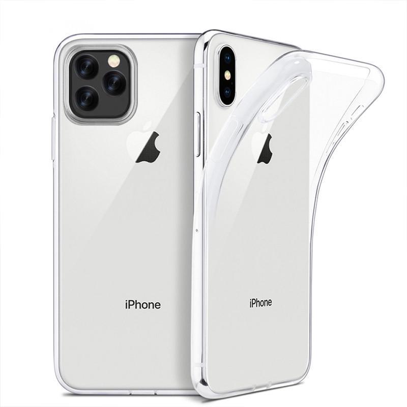 Luksus klar TPU myk sak for iPhone 12 MINI 12 Pro Max 11 Pro Max XS XR 6s 7 8 pluss 12 pro gjennomsiktig slank telefon tilbake tilfelle