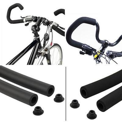 Tube Foam Rubber 2X Bicycle Bike Handlebar MTB Bike  Sponge Black Grips Cover