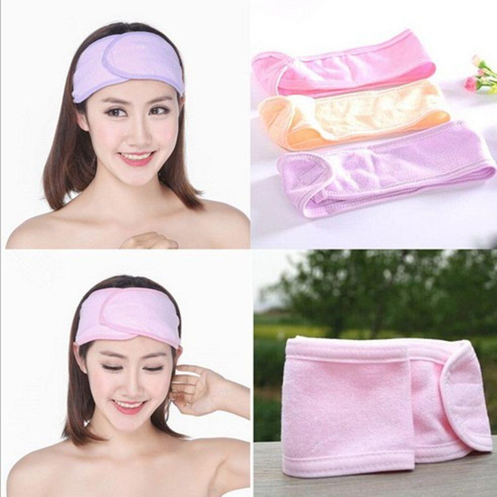 436dc2b7cc1 Spa Bath Shower Make Up Wash Face Cosmetic Headband Hair Band ...