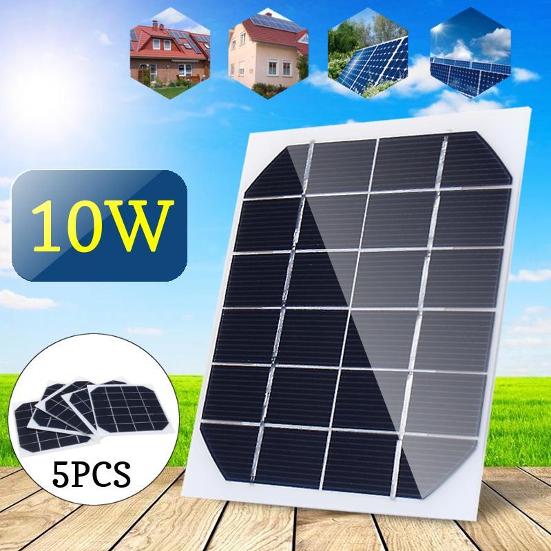 5pcs 10W 6V мини-панели солнечных батарей питания модуль батареи игрушки заряжатель свет DIY – купить по низким ценам в интернет-магазине Joom