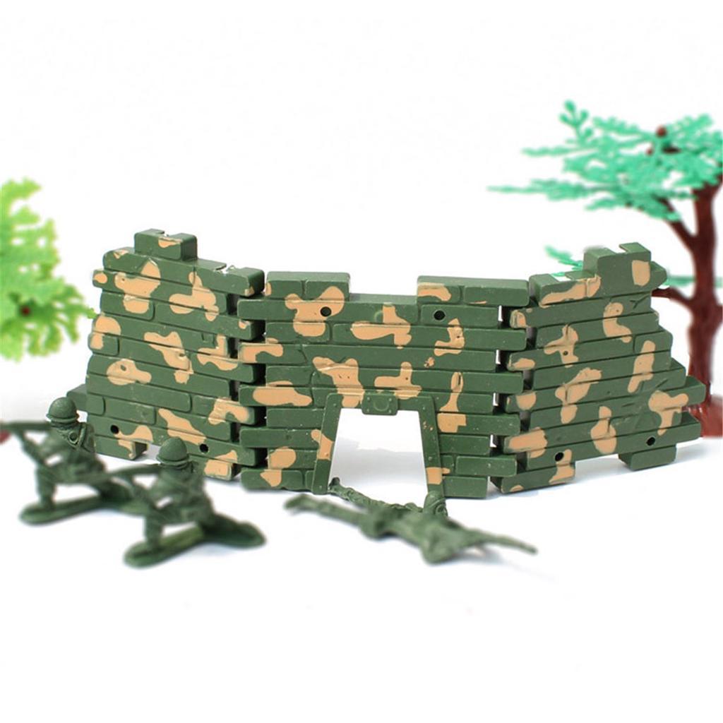 Cerca 10Pcs Militar Exército Modelo Cena De Areia homens Acessórios Presentes Brinquedo Crianças