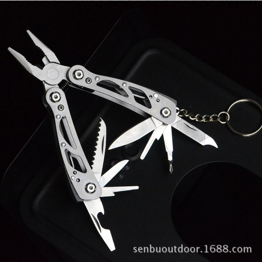 24 In 1 Portable Multi-Function Key Tool Outdoor Camping Tool Stainless Steel