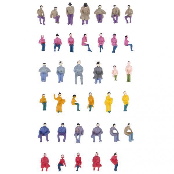 100pcs Painted Model Train Railway Seated People Passengers Figure N Scale 1:150