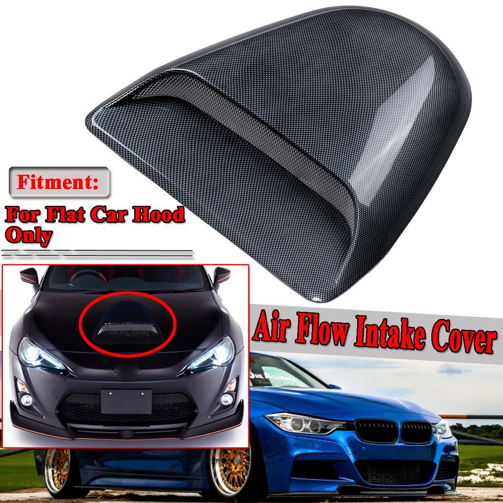 Universal 3D Car Air Flow Decorative Intake Hood Scoop Bonnet Vent Cover Durable