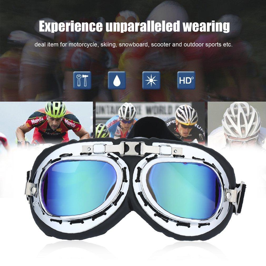 Pilot Goggles Anti-UV Helmet Glasses Outdoor Sports Scooter Motocross Glasses