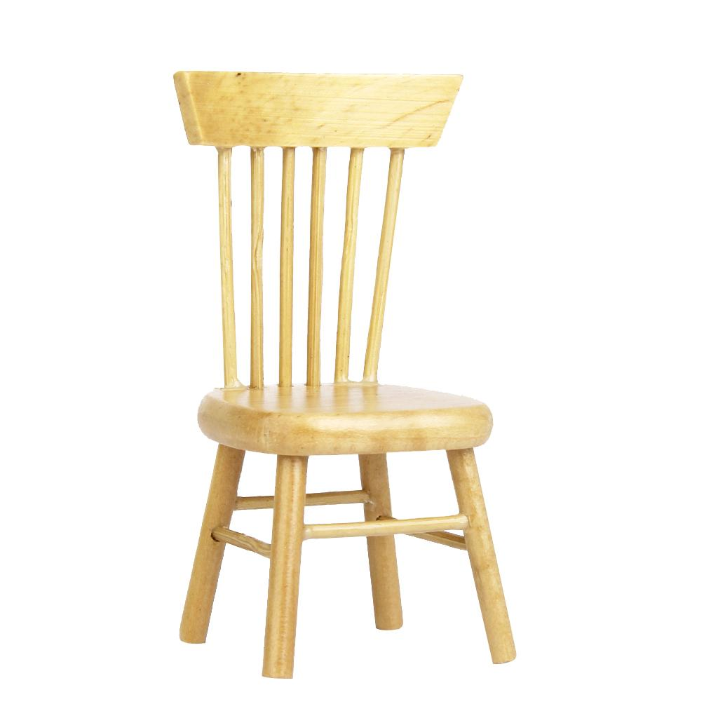 Doll Furniture 1:6 Scale Wooden Model Handmade Windsor Chair