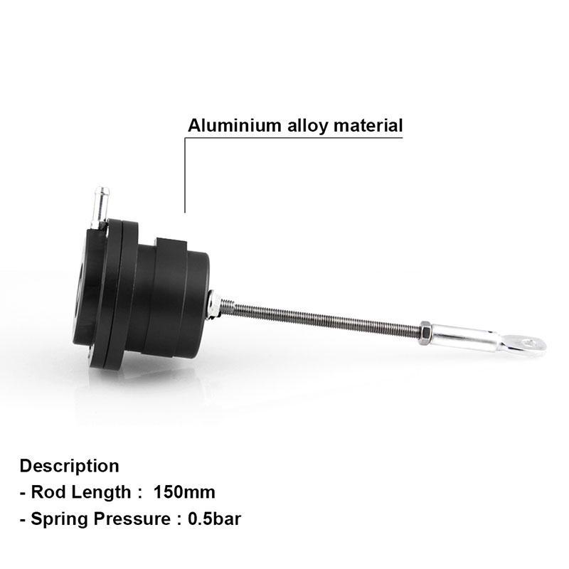 1x Turbo Adjustable Wastegate Actuator /& Rod Aluminum Alloy Universal Red #