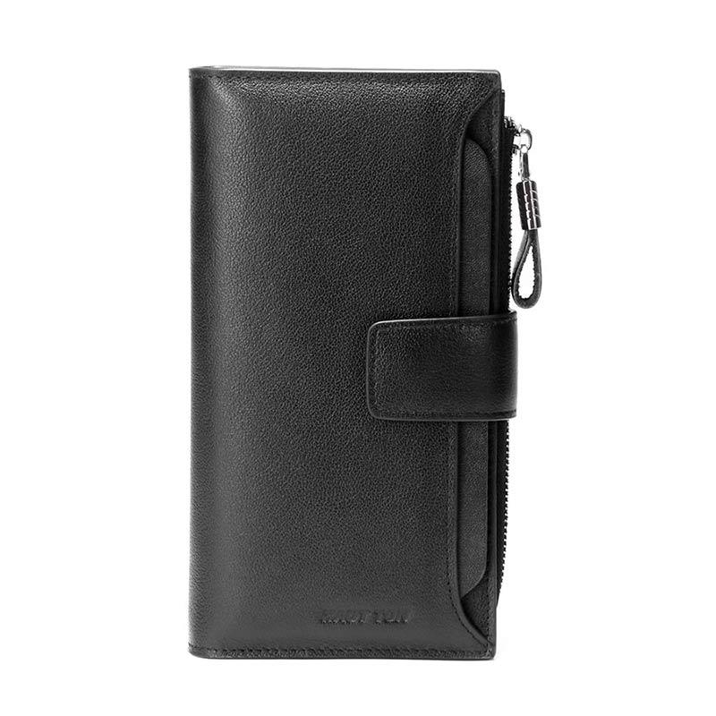 55ba66557e3cd HAUT TON Mężczyźni Genuine Leather Clutch Bag Torebka Organizator ...