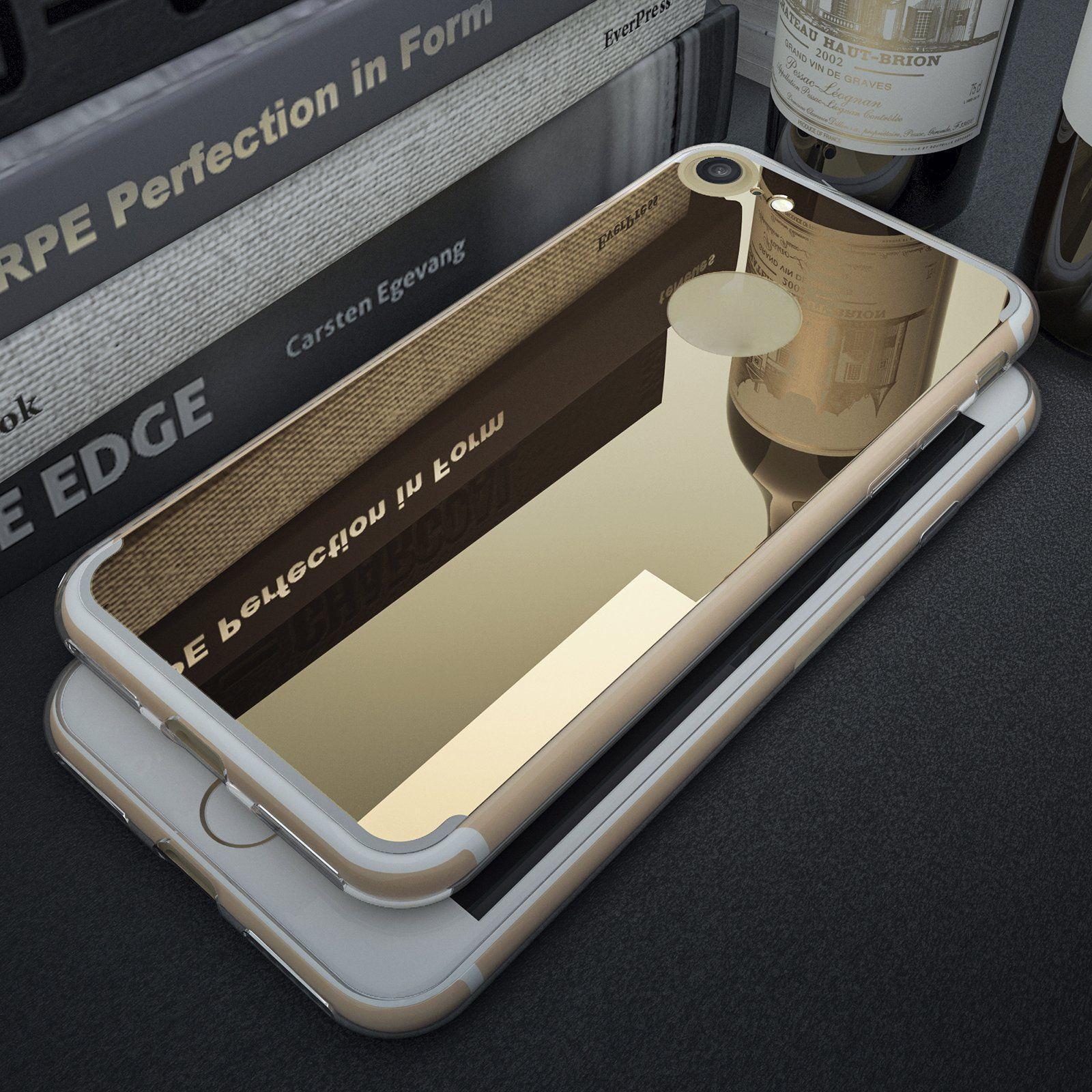 Роскошный Ultra Тонкий Тонкий Кристалл Ясная Зеркало Назад Резина Crystal Clear Бампер Чесер для iPhone Samsung фото