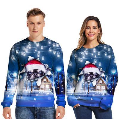 Unisex Christmas Couples Skull Sweater Sweatshirt Sweater Xmas Pullover Jumper