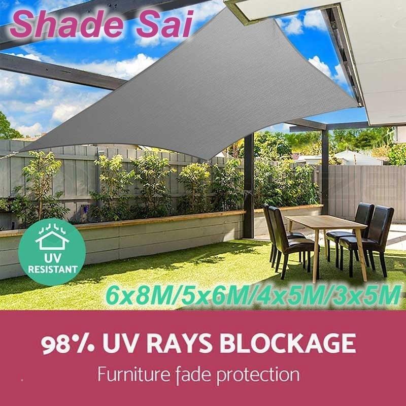 Sun Shade Sail Garden Patio Awning Canopy Playground UV Mesh Net Sun Protection