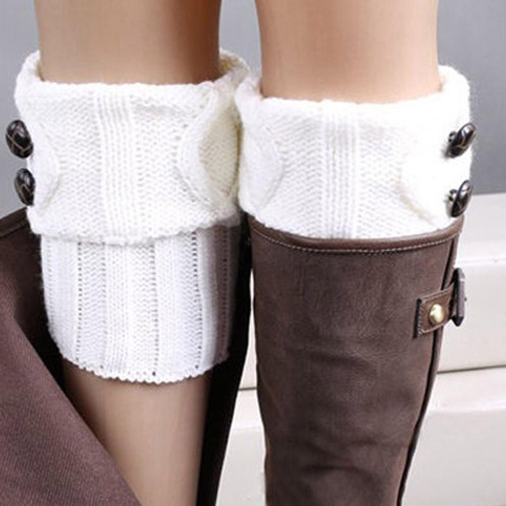 Arranque calcetines calentadores ganchillo punto Toppers chicas ...